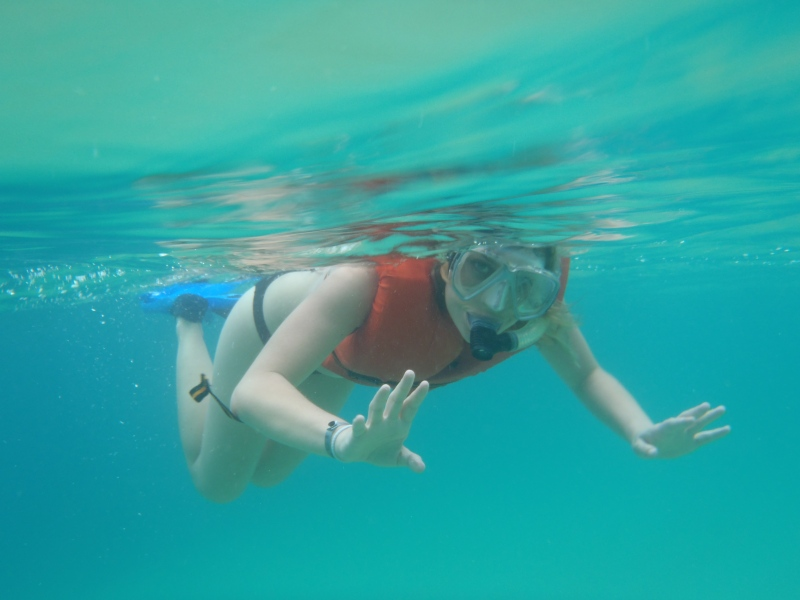 My first time snorkeling! So much fun.