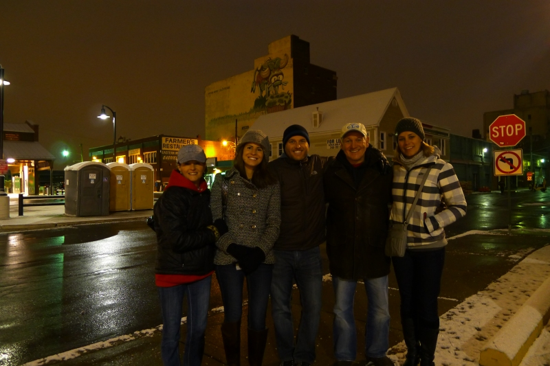 The Krass family up early Christmas Eve for the traditional Eastern Market visit