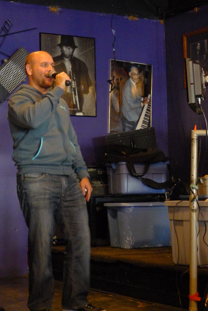 Rob keeping singing karaoke (Addicted to Love) at Bert's