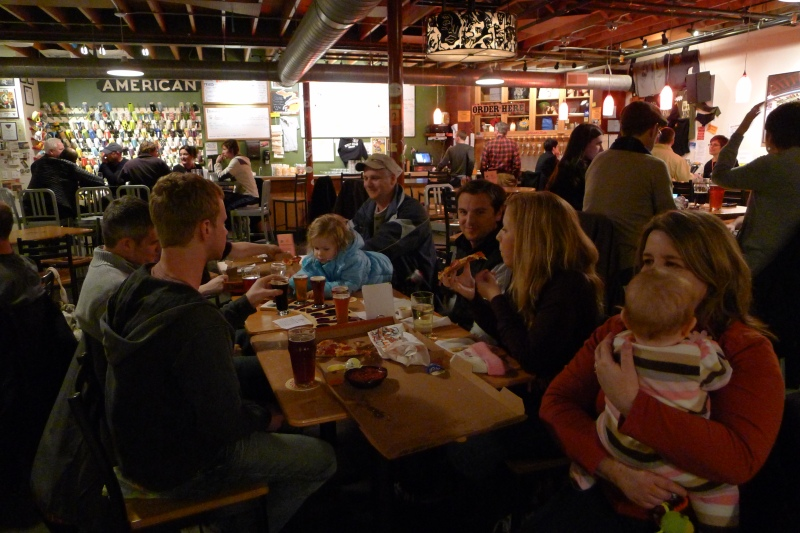 Dinner and microbrews at Right Brain Brewery