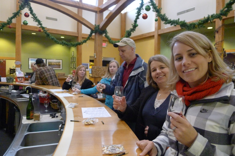 Wine tasting at Black Star Farms Winery