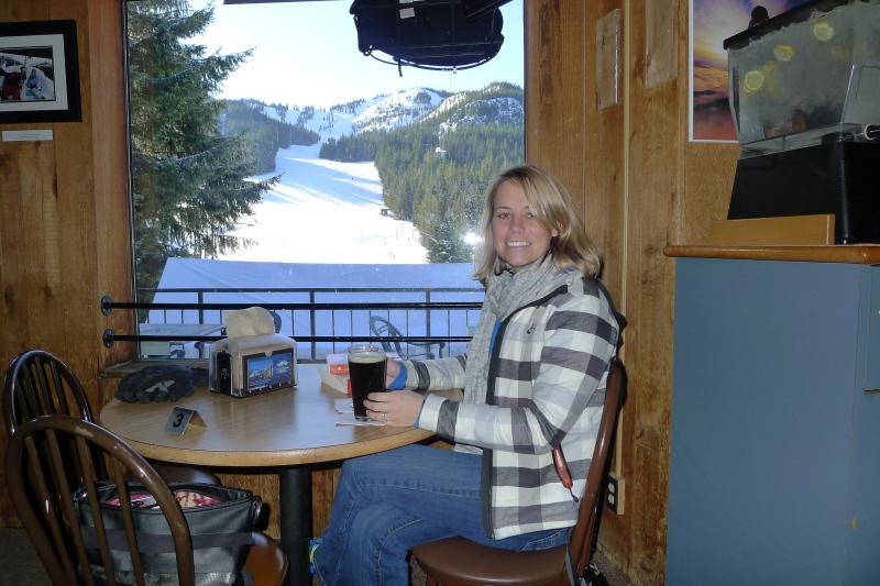My little spot in the Skibowl lodge bar