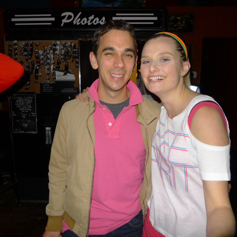 Lindsay and Daniel, aka prep and Jazzercize 80's folks