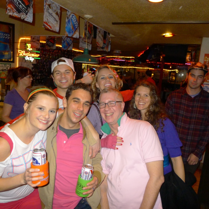 Part of the birthday bar crawl crew, including neighbor (and Miranda's fiance) Kent