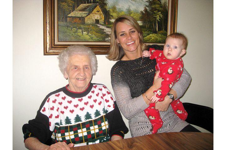 Grandma, granddaughter, and great-granddaughter