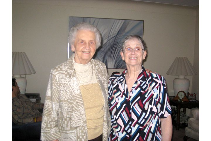 My two grandmas together on Christmas day