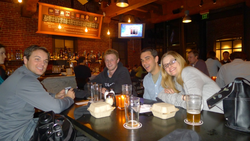 Dave's first night in town: Dinner and drinks at Bridgeport Brewery