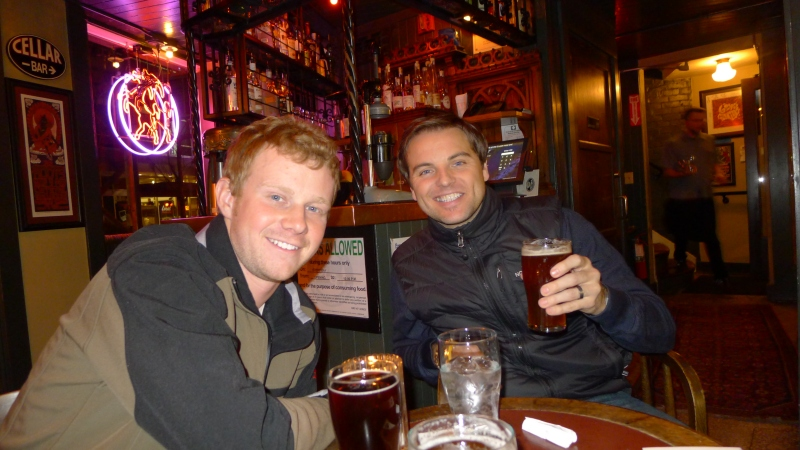 Dave and Jeff at the cozy Ringler's Annex
