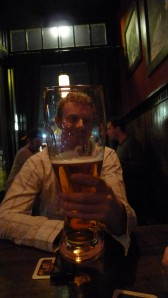 "Dave conquering the Prost! ""das boot"""