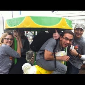 Riding the ponies at Cartopia food cart pod for bonus points