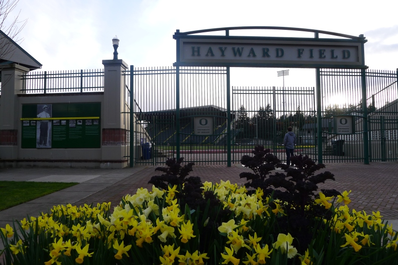 University of Oregon's Hayward Field - site of the 2012 U.S. Olympic Track and Field Team Trials