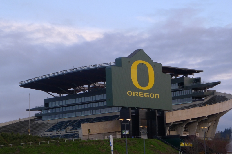 Drive-by of Oregon's Autzen Stadium, home of the Ducks