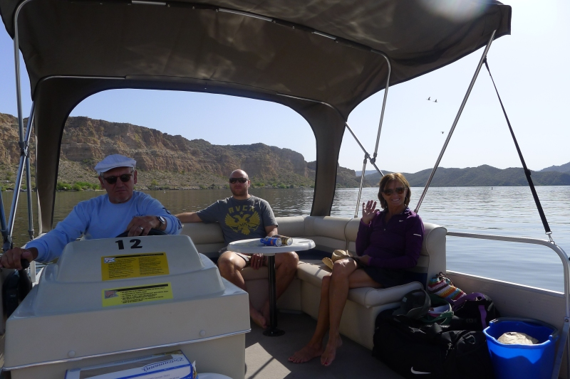 Let's get this party started! Heading out on Saguaro Lake