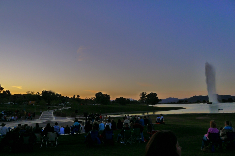 Sunrise Easter service at Fountain Park
