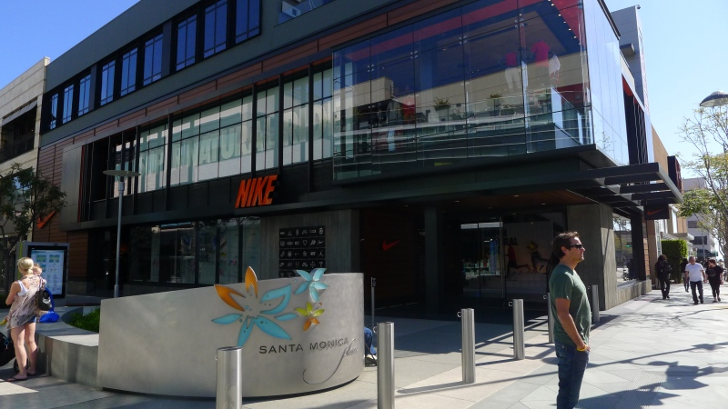 The requisite shot of the local Nike store (this one in Santa Monica)