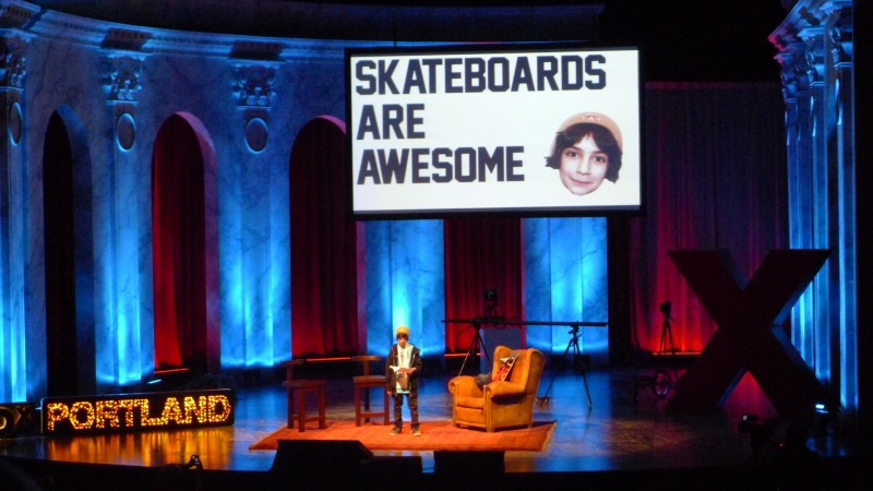 Coolest presenter of the day: skateboard entrepreneur Gavin Davison