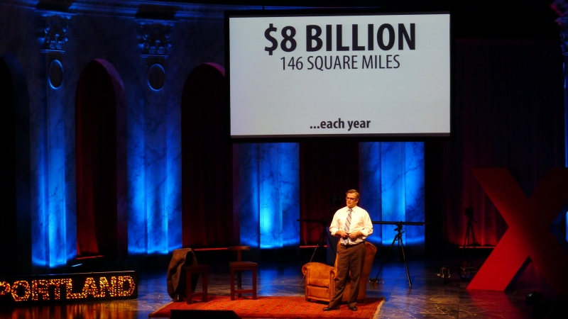 Portland Mayor Sam Adams giving his TED talk