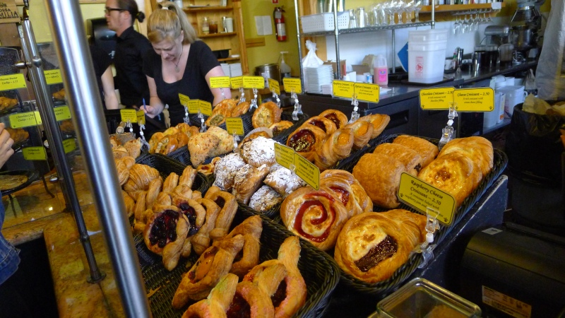 The baked goodies at Petite Provence on Alberta