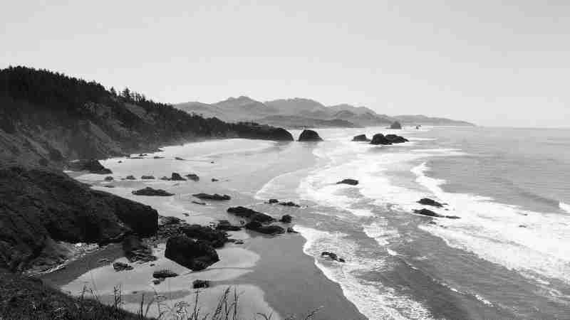 The breathtaking view from Ecola State Park