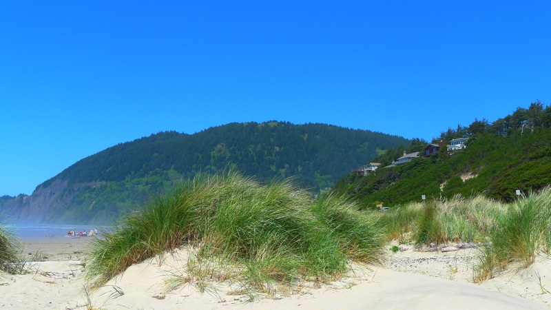 The view from my towel on the Manzanita beach