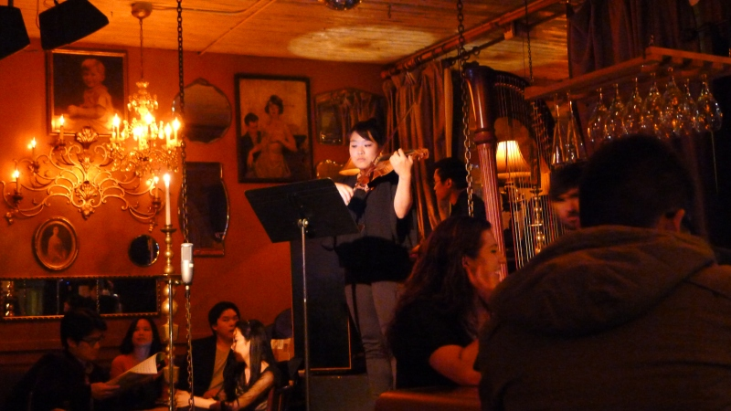 One of the every-night performers at Pink Door restaurant