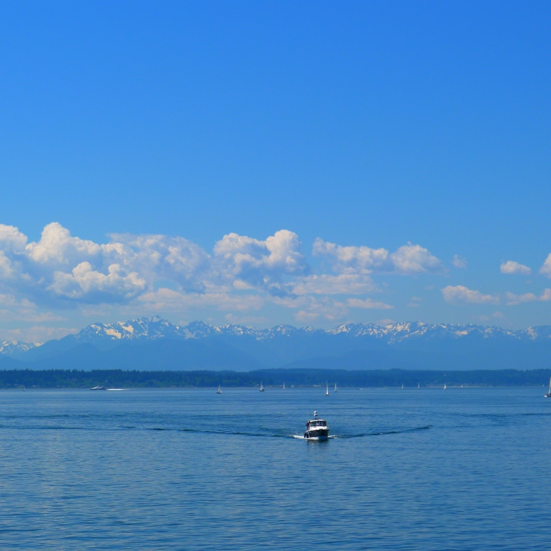 The Olympic Mountains on the Puget Sounds