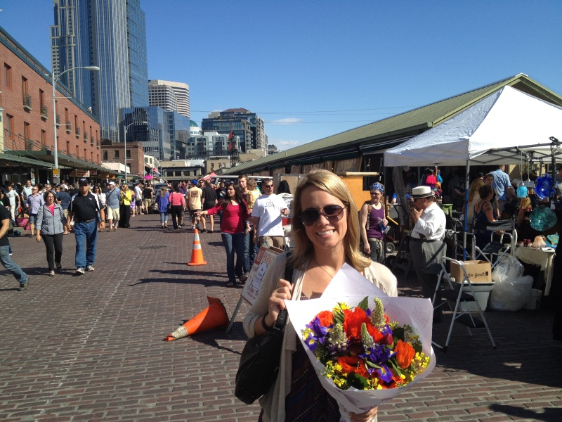 Big fan of Pike Place Market's beautiful (and cheap!) flowers