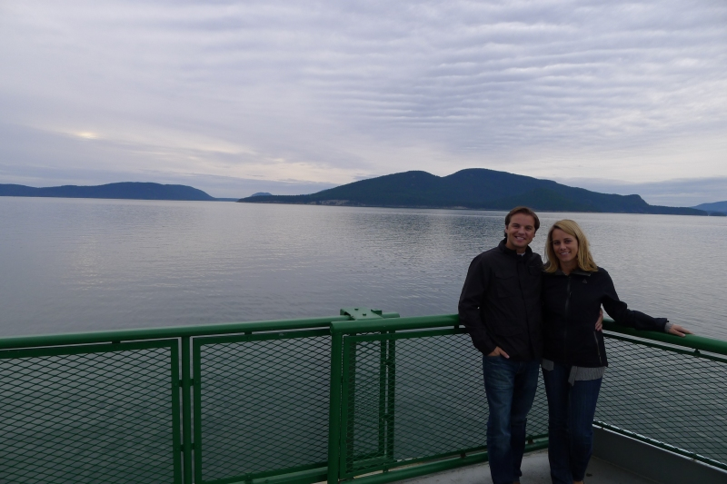 Leaving Anacortes, Washington for San Juan Island