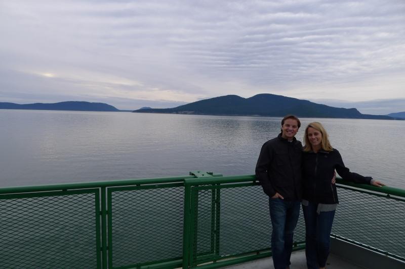 Leaving Anacortes, Washington for San Juan Island