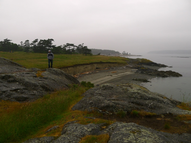 Jeff surveying the land from Cattle Point