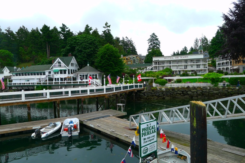 The quaint, beautifully-lanscaped Roche Harbor