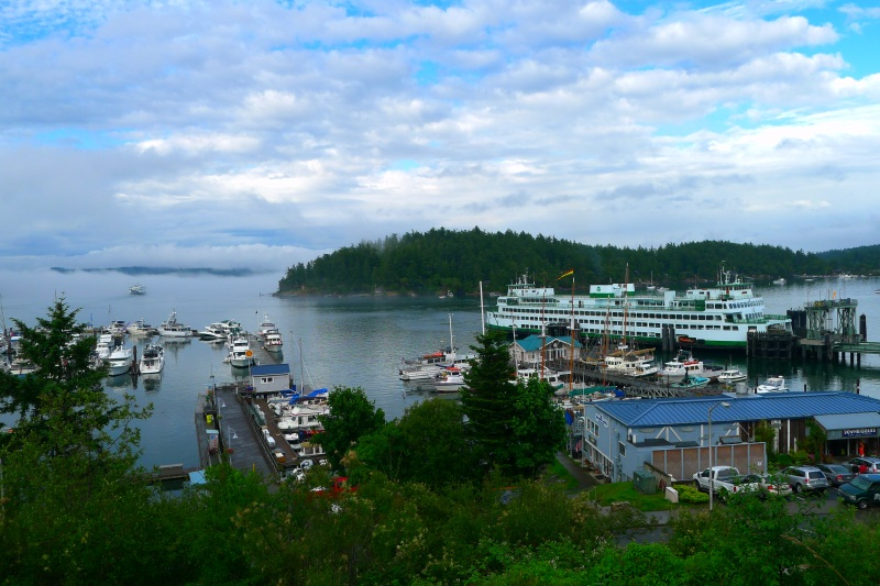 Friday Harbor (the view from our hotel)
