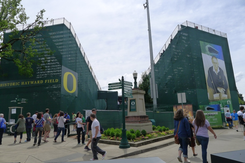 Welcome to University of Oregon's historic Hayward Field