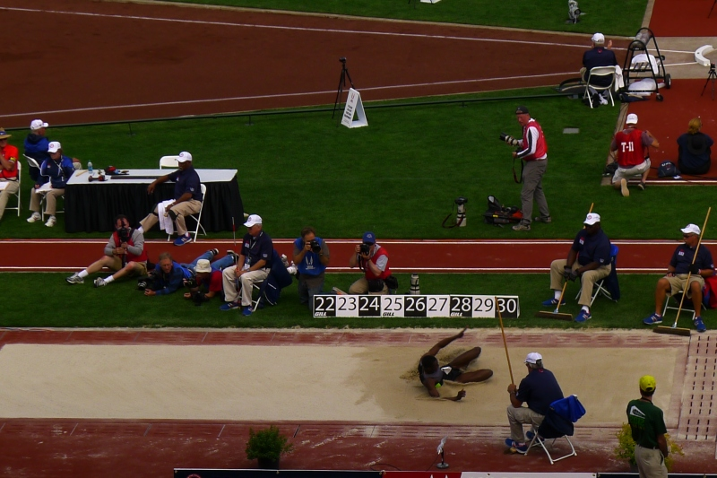 William Claye on the long jump (he finished 2nd)
