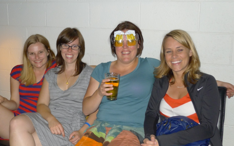 Lindsay, Paige, Aubrie and I relaxing at Moonshine Lounge