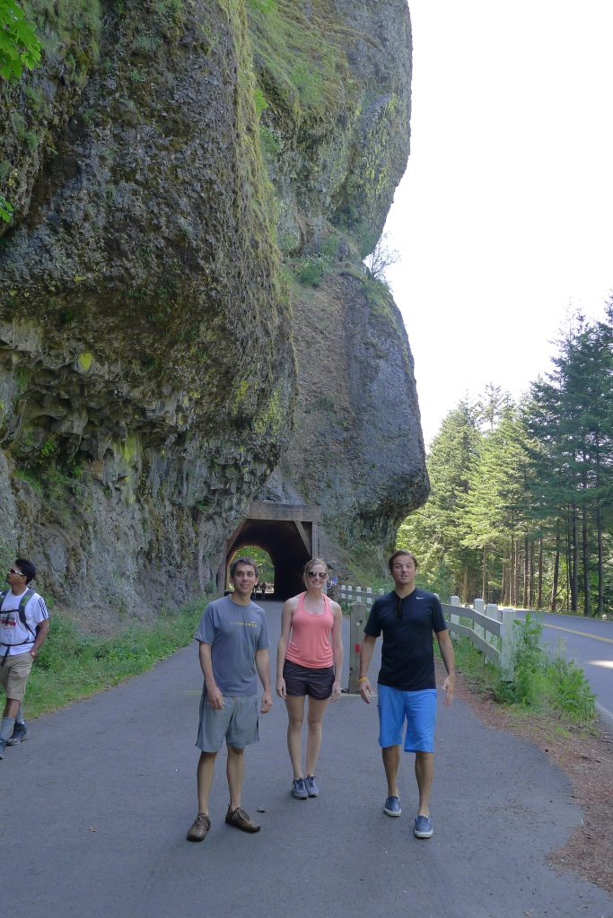 Daniel, Lindsay and Jeff emerging from the Oneonta Tunnel