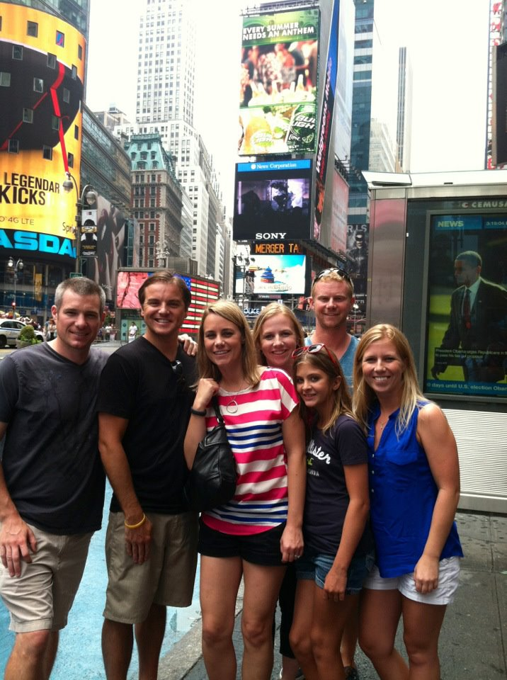 Cory, Jeff, me, Lori, Kayley, Dave and Shel in the Big Apple