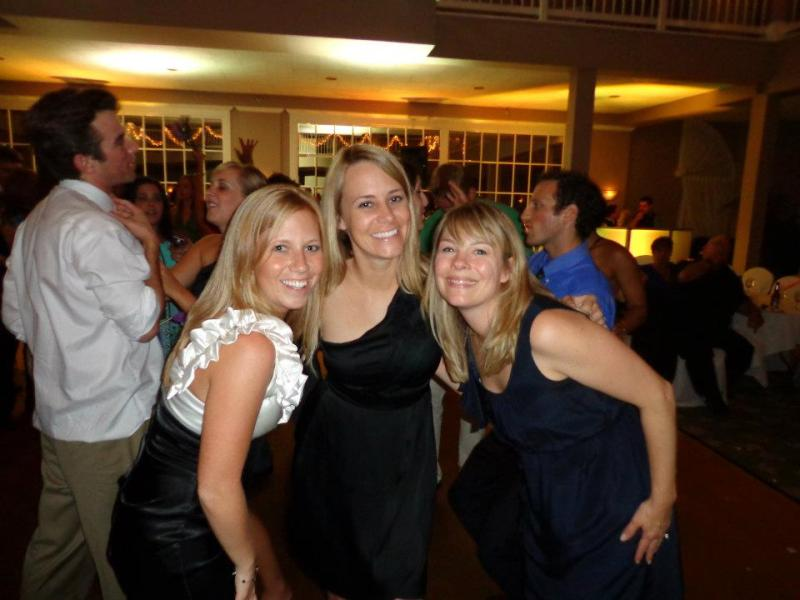 Shelly, me and Cali cousin Sara on the dance floor