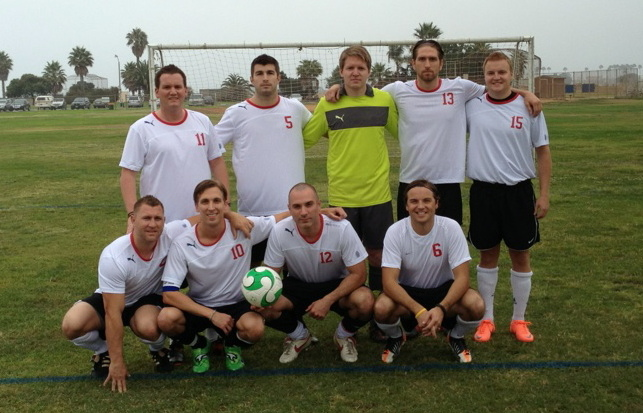 The Motor City Soccer teammates (notice Jeff's lone Nike logo on his jersey)