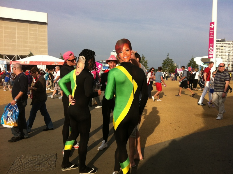 ...and more bodysuits, courtesy of Jamaican fans