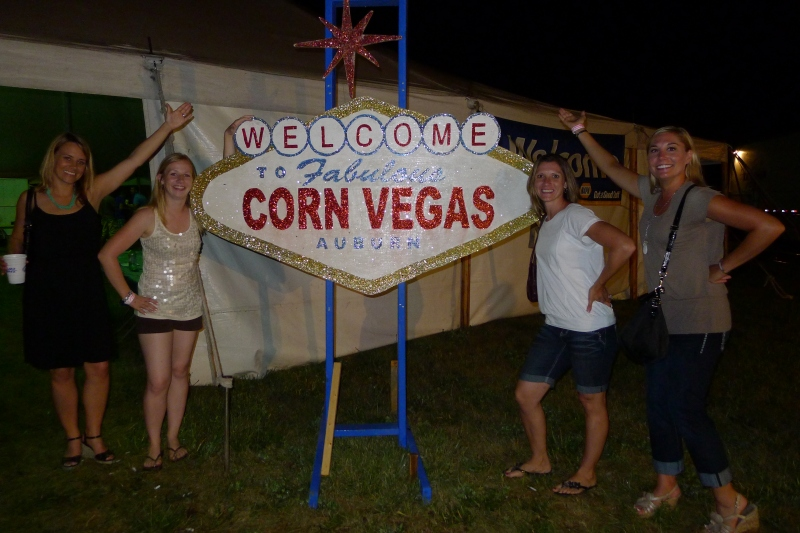 Welcome to Corn Vegas, aka the gambling tent at Cornfest