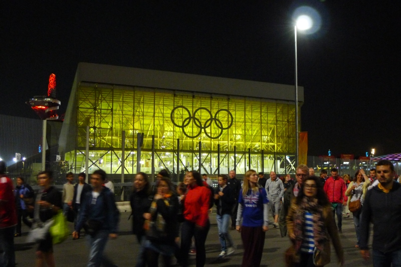 Passing the Water Polo Arena on our way out of the Olympic Park