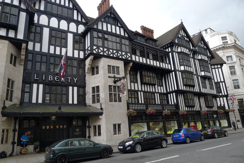 The Liberty London store, just around the corner from Niketown London