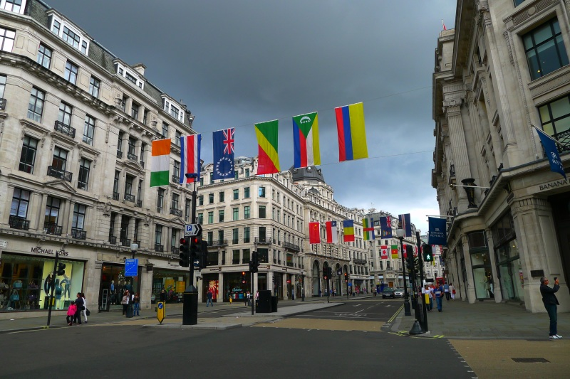 The beautiful Oxford Street / Regent Street shopping area