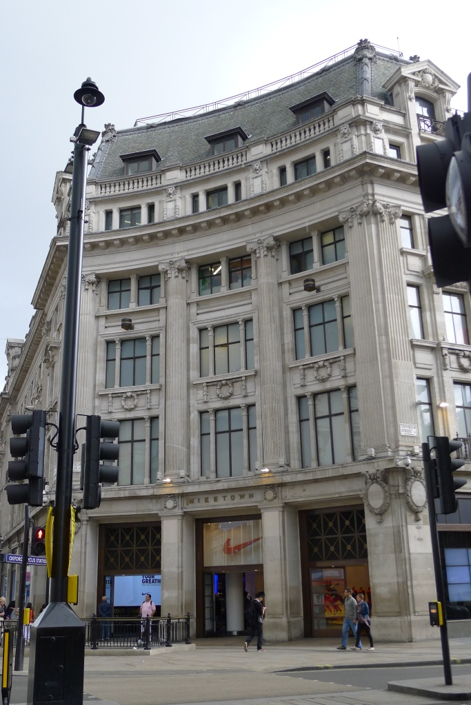 The exterior of the grand Niketown London