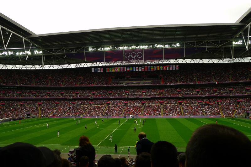 Mexico vs. Japan in the Football Semis at Wembley Stadium