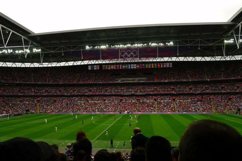Mexico vs. Japan in the Football Semis at Wembley Stadium