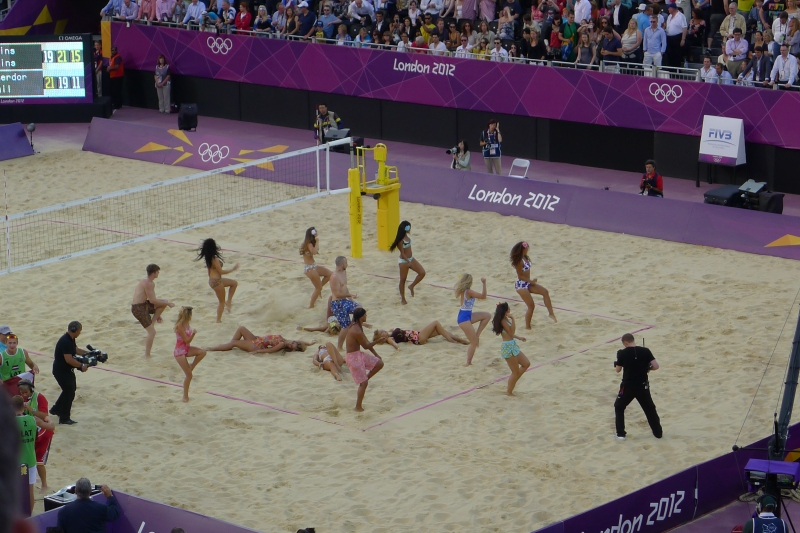 Sand dancers - just part of the entertainment at the Horse Guards Parade