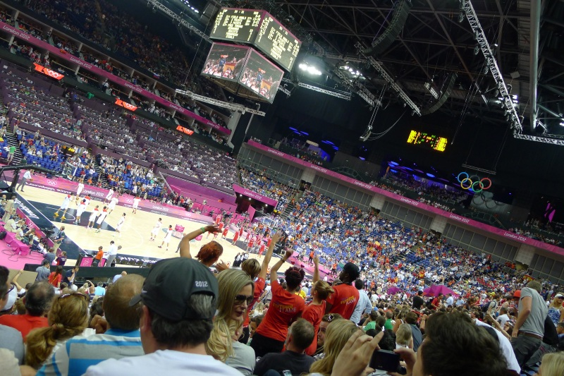 The North Greenwich Arena for the Men's Basketball Semifinals