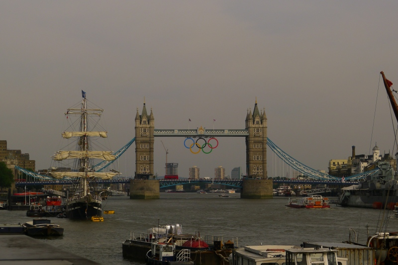 The iconic Tower Bridge over the River Thames